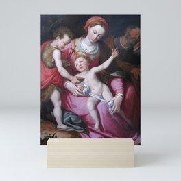 Santi di Tito - the Holy Family Mini Art Print