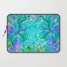 Tropical Breeze Floral Abstract Laptop Sleeve