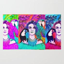 Self-portrait Pop-Art The Garden Rug