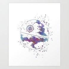 Star . Wars Death Star Art Print