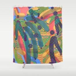 HODGE PODGE FIGURES Design Illustration Pattern Print Shower Curtain