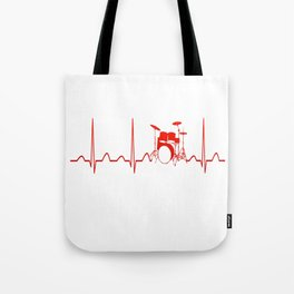 DRUMS HEARTBEAT Tote Bag