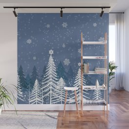 Winter Snow Forest Wall Mural