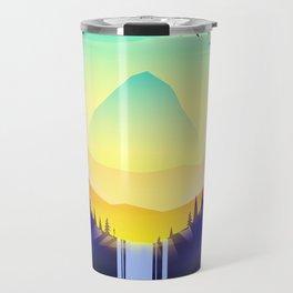 Landscape waterfall orb Travel Mug