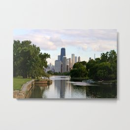 Chicago by River Metal Print
