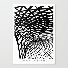 King's Cross London, a Magnificent Ceiling Illustrated Art Print Canvas Print