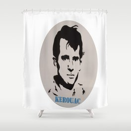 Jack Kerouac Record Painting Shower Curtain
