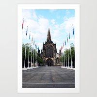 medieval Art Prints featuring medieval glasgow by seb mcnulty