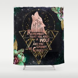 ACOWAR - You Are A Wolf Shower Curtain