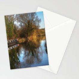Narrow Boats At Woolhampton Stationery Cards