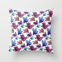 minerals Throw Pillows featuring Minerals by Bird & Bow Studios