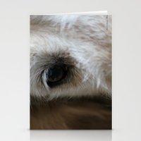 golden retriever Stationery Cards featuring Golden retriever eye 2 by Isabelle Savard-Filteau