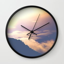 over mountains Wall Clock