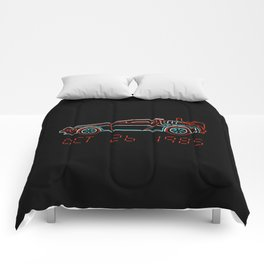 You Built a Time Machine..BTTF Back to the future car Comforters
