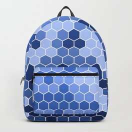 Honeycomb Blue Pattern | Geometric Shapes | Home Decor | Sapphire | For Him | For Her Backpack