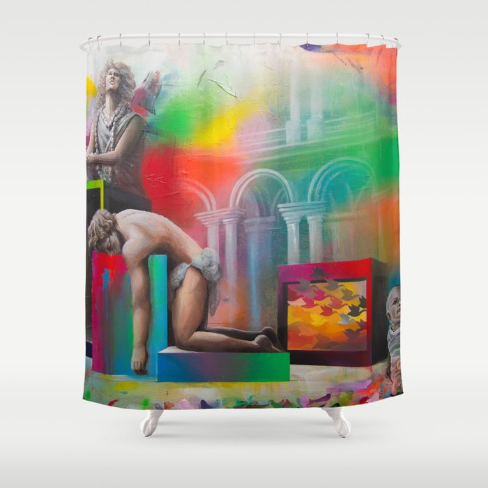 DEXTER Shower Curtain By Gaetanoevalentina