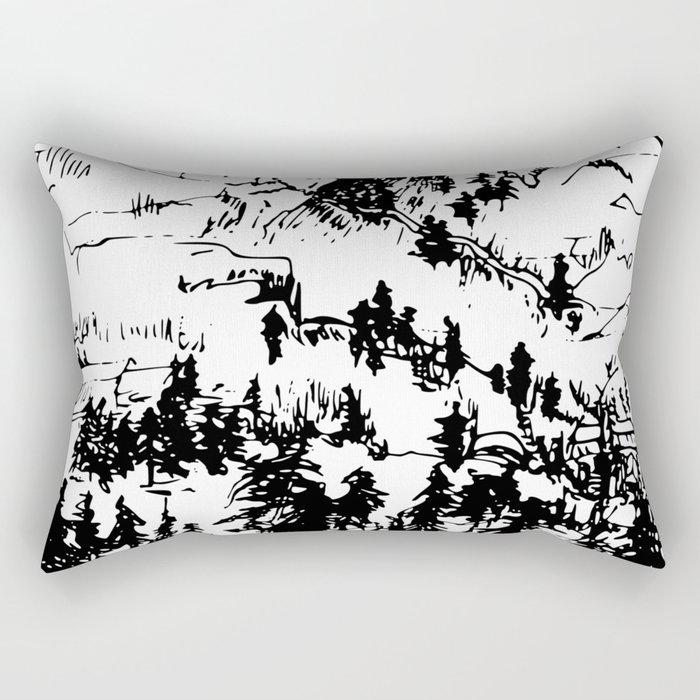 This is where it happened last autumn Rectangular Pillow