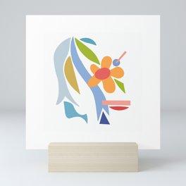 mod bloom Mini Art Print