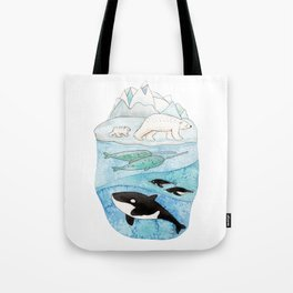 Antarctic whales Tote Bag