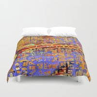 chicago bulls Duvet Covers featuring chicago by donphil