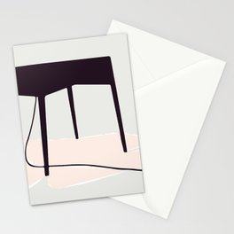 Minimal Table Pink Texture Stationery Cards