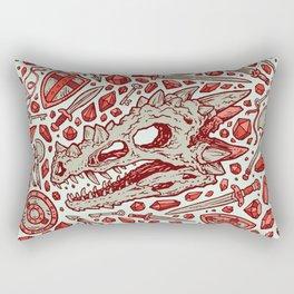 Hoard of the Gem Dragon | Ruby Rectangular Pillow
