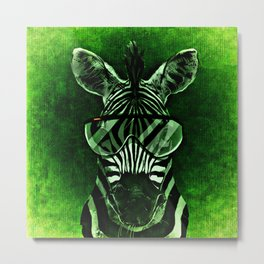 Xtra Zebra Metal Print