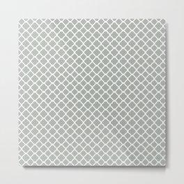 Quatrefoil in Silver Gray Metal Print