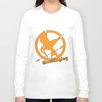 mockingjay Long Sleeve T-shirts featuring MockingJay by Marc Koster