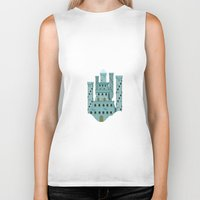 castle in the sky Biker Tanks featuring Sky castle simple by loligo