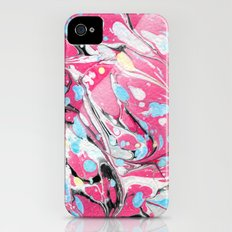 Abstract Painting ; Pink & Red Acrylic Slim Case iPhone (4, 4s)