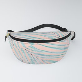 Palm Leaves Coral Fanny Pack