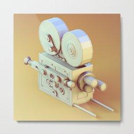 Low Poly Film Camera Metal Print
