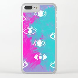 Eyes, the look Clear iPhone Case