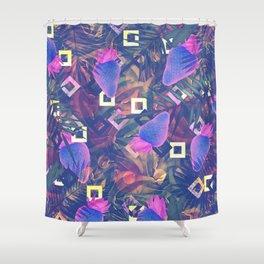 Fluorescent Vibe Shower Curtain