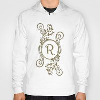 monogram Hoodies featuring Monogram R by Britta Glodde