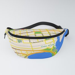 Map of Pensacola, FL - East Hill Christian School Fanny Pack
