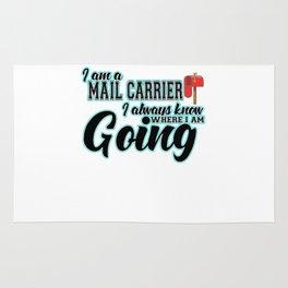 Mail Carrier Funny Gift I  Postal Carrier Costume Rug