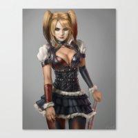 harley quinn Canvas Prints featuring Harley Quinn by Pat Ventura
