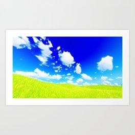 Anime Sky 5 Art Print