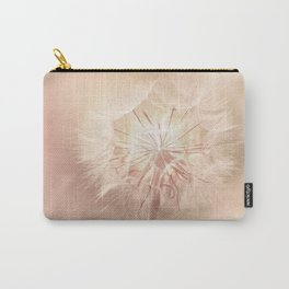 Pink Dandelion Flower - Floral Nature Photography Art and Accessories Carry-All Pouch