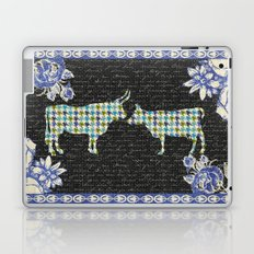 Houndstooth Cows (A Love Story) Laptop & iPad Skin