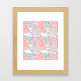 Lotus + Papyrus Garden Framed Art Print