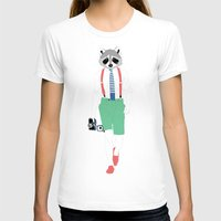 raccoon T-shirts featuring Raccoon by Nathalie Otter