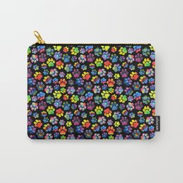 Rainbow Paw Print Watercolor Pattern Carry-All Pouch