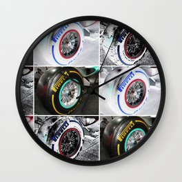 Pirelli Tires III Wall Clock
