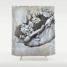 Le jardin d'Alice Shower Curtain