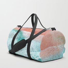 The Break - Turquoise Sea Pastel Pink Beach Duffle Bag