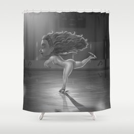 Ice Skater Shower Curtain