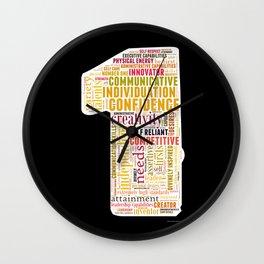 Life Path 1 (black background) Wall Clock